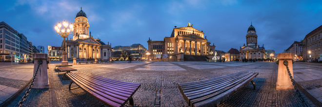 Berlin - Gendarmenmarkt Panorama II - Fineart photography by Jean Claude Castor