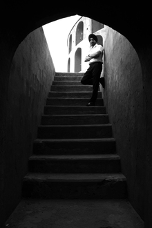 Jagdev Singh, Stairs and a Man (Indien, Asien)