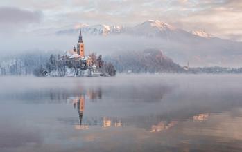 Aleš Krivec, Lake Bled on a winter morning (Slovenia, Europe)