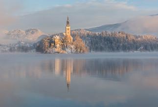 Aleš Krivec, Lake Bled on a winter morning (Slowenien, Europa)
