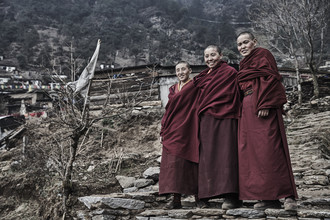 Tibetan Nuns - Fineart photography by Jan Møller Hansen