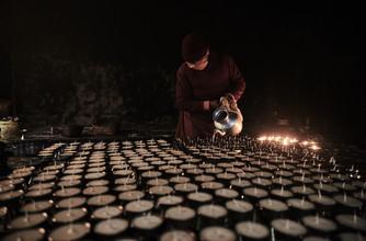 Jan Møller Hansen, The butter lamp room (Nepal, Asia)