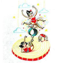 Larvol Marianne, rolling circus (Frankreich, Europa)