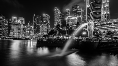 Sebastian Rost, Singapur - Merlion s/w (Singapore, Asia)