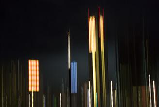 Berlin, Hauptbahnhof bei Nacht - fotokunst von Jens Rosbach