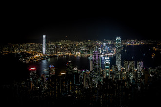 Sebastian Rost, Skyline von Hongkong bei Nacht vom Peak aus (Hong Kong, Asien)