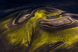Lukas Gawenda, Kunst der Natur - Luftaufnahme in Island (Island, Europa)