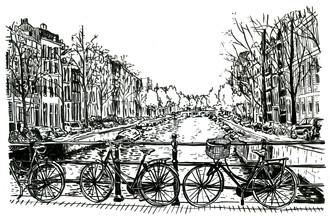Mieke Van Der Merwe, Biking in Amsterdam (Südafrika, Afrika)