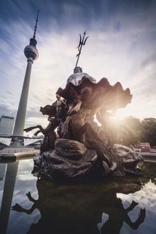 Neptunbrunnen Berlin Alexanderplatz - Fineart photography by Ronny Behnert