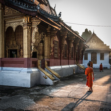 Sebastian Rost, Mönch im Kloster (Laos, Asien)