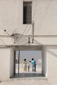 Enok Holsegaard, Family on roof (Indien, Asien)