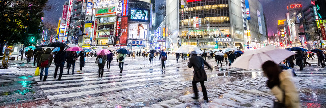 Jörg Faißt, Shibuya Crossing in Winter #5 (Japan, Asia)
