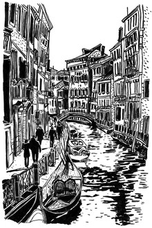 Mieke Van Der Merwe, A late afternoon in Venice (South Africa, Africa)