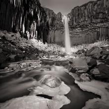 Dennis Wehrmann, Long exposure Svartifoss Iceland Langzeitbelichtung Svartifoss Island (Island, Europa)