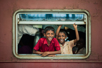 Johannes Christoph Elze, Freude im Zug (Sri Lanka, Asien)