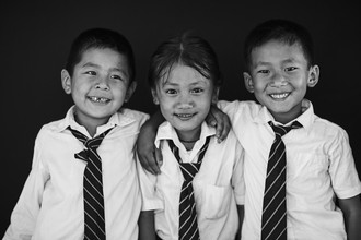 Jan Møller Hansen, Tibetan school kids (Nepal, Asia)