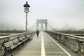 Rob van Kessel, Walking the Brooklyn Bridge (United States, North America)