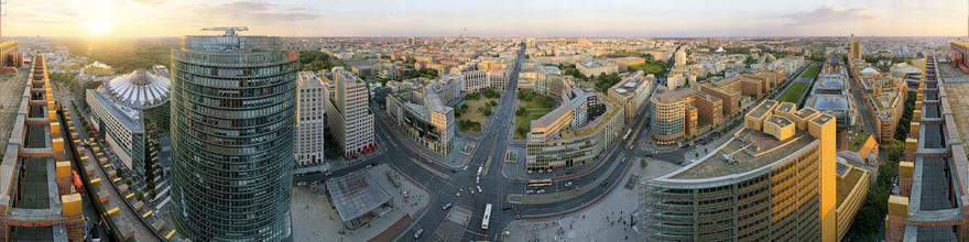 André Stiebitz, Potsdam Platz Berlin Sunset Panorama (Deutschland, Europa)