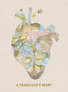 A Traveller's Heart - fotokunst von Bianca Green