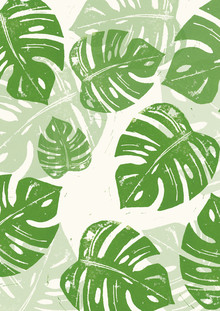 Bianca Green, Linocut Monstera Deliciosa (Germany, Europe)