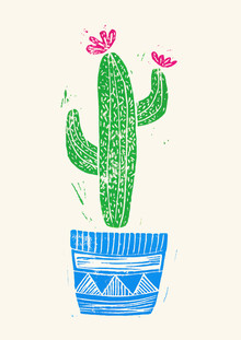 Bianca Green, Linocut Cactus #2 Pot (Germany, Europe)