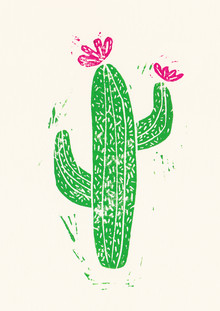Bianca Green, Linocut Cactus #2 (Germany, Europe)