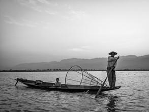 Sebastian Rost, Einbeinfischer auf dem Inle See in Myanmar (Myanmar, Asia)