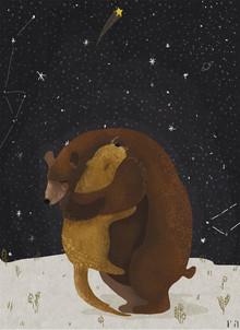 BEAR HUG - fotokunst von Amalia Restrepo