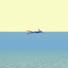 Caterina Theoharidou, Swimming girl (Italy, Europe)