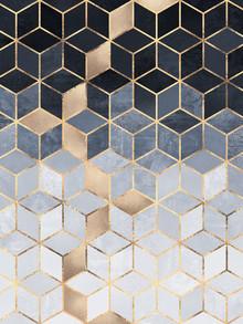 Elisabeth Fredriksson, Soft Blue Gradient Cubes (Schweden, Europa)