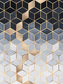 Elisabeth Fredriksson, Soft Blue Gradient Cubes (Sweden, Europe)