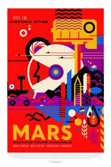 Nasa Visions, Mars, visit the historic sites (Vereinigte Staaten, Nordamerika)