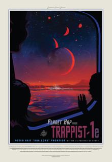 Nasa / Jpl - Visions Of The Future, Planet Hop from Trappist-1e, Best Hab Zone Vacation (United States, North America)