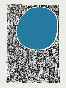 Fox And Velvet, Blue City Lake Abstract (United Kingdom, Europe)