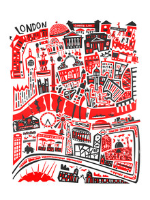 London Map - fotokunst von Fox And Velvet