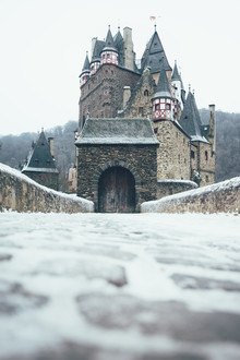 Patrick Monatsberger, Eltz castle in winter snow (Germany, Europe)