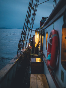 blue hour on board - Fineart photography by Leo Thomas
