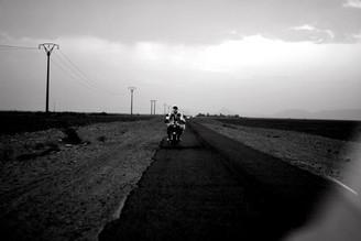 Julia Hafenscher, desert race. (Morocco, Africa)