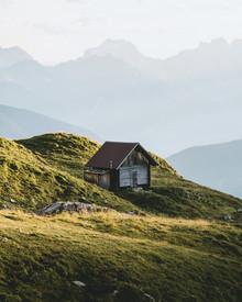 Jan Keller, Hütte in den Bergen (Österreich, Europa)