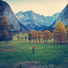 Franz Sussbauer, Big Ahornboden in autumn (Austria, Europe)