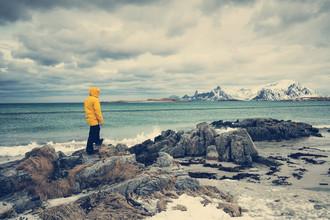 Franz Sussbauer, Im Winter am Strand (Norwegen, Europa)