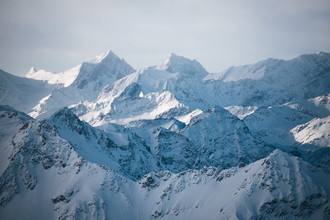 Bilck über die Alpen - fotokunst von Johannes Hulsch