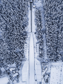 Konrad Paruch, Ski Jumping Hill from Above (Poland, Europe)