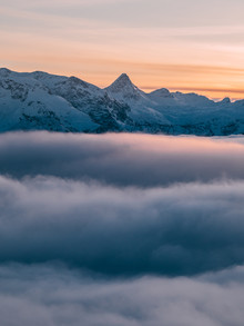 Sebastian 'zeppaio' Scheichl, Sunset above the clouds (Germany, Europe)