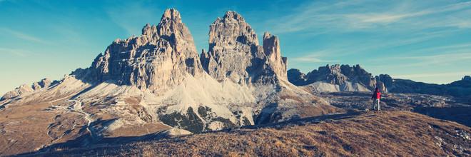 Franz Sussbauer, Blick auf die Drei Zinnen von Süden (Italien, Europa)