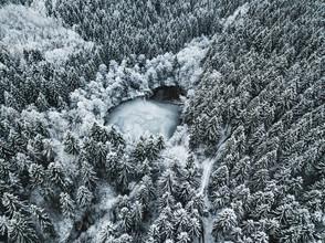 gefrorener See - fotokunst von Patrick Eichler