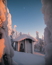 André Alexander, Abendstimmung in Lappland (Finnland, Europa)