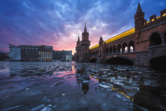 Jean Claude Castor, Berlin Eisschollen auf der Spree (Deutschland, Europa)