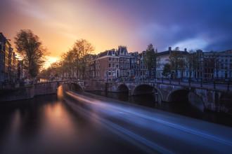 Jean Claude Castor, Sonnenuntergang in Amsterdam (Niederlande, Europa)