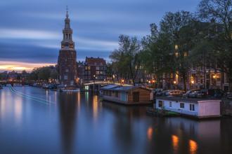 Jean Claude Castor, Amsterdam zur blauen Stunde (Niederlande, Europa)